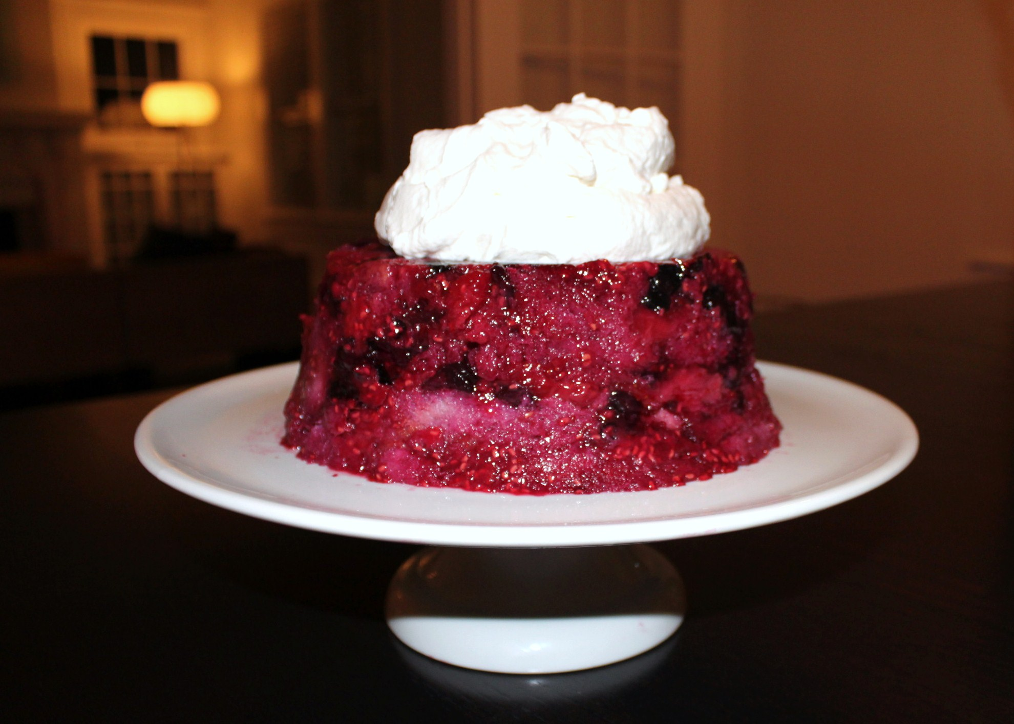 Ina Garten Picnic Summer Pudding With Rum Whipped Cream Mod Meals On