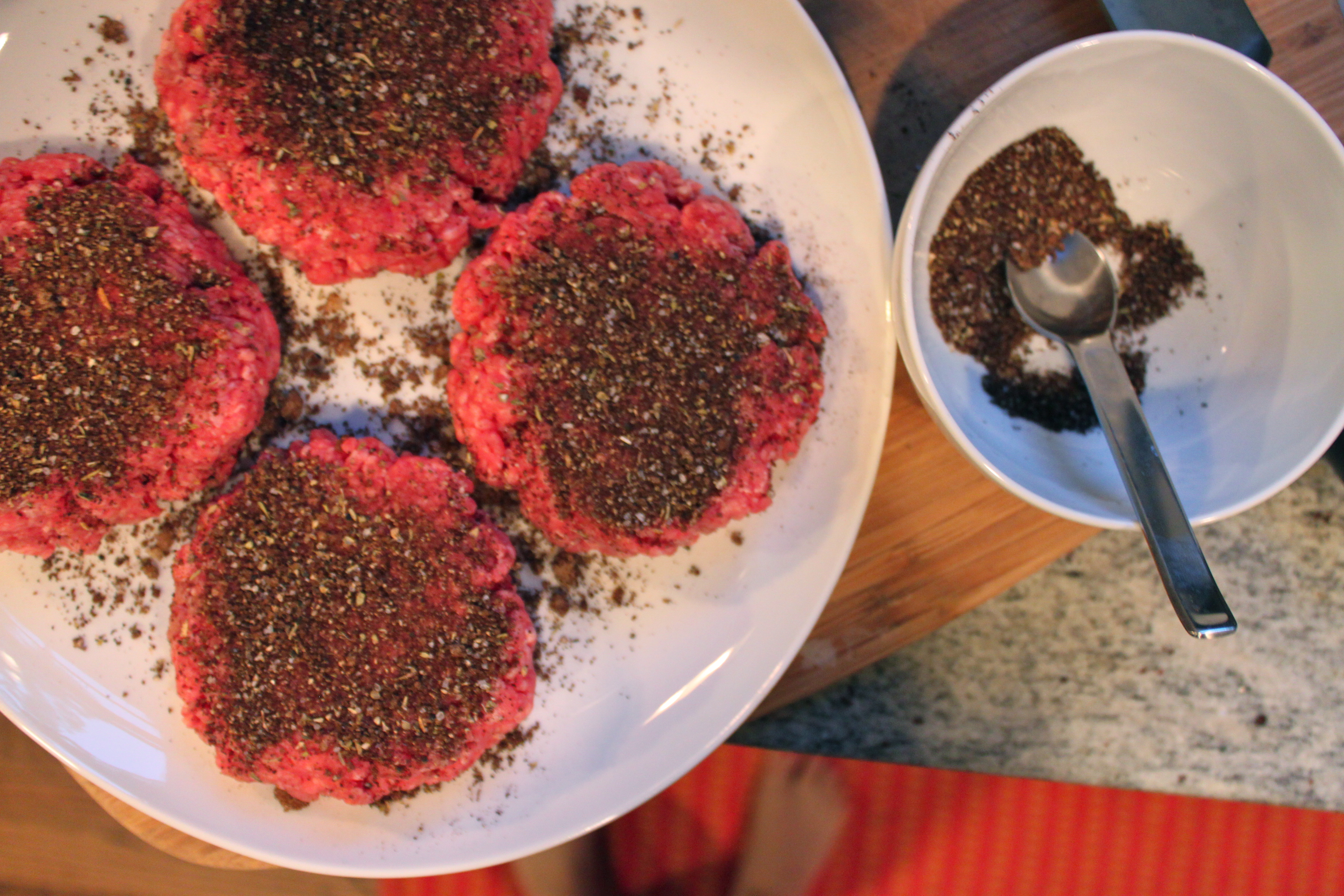 Coffee Rubbed Burgers with Texas Sauce | Mod Meals on Mendenhall