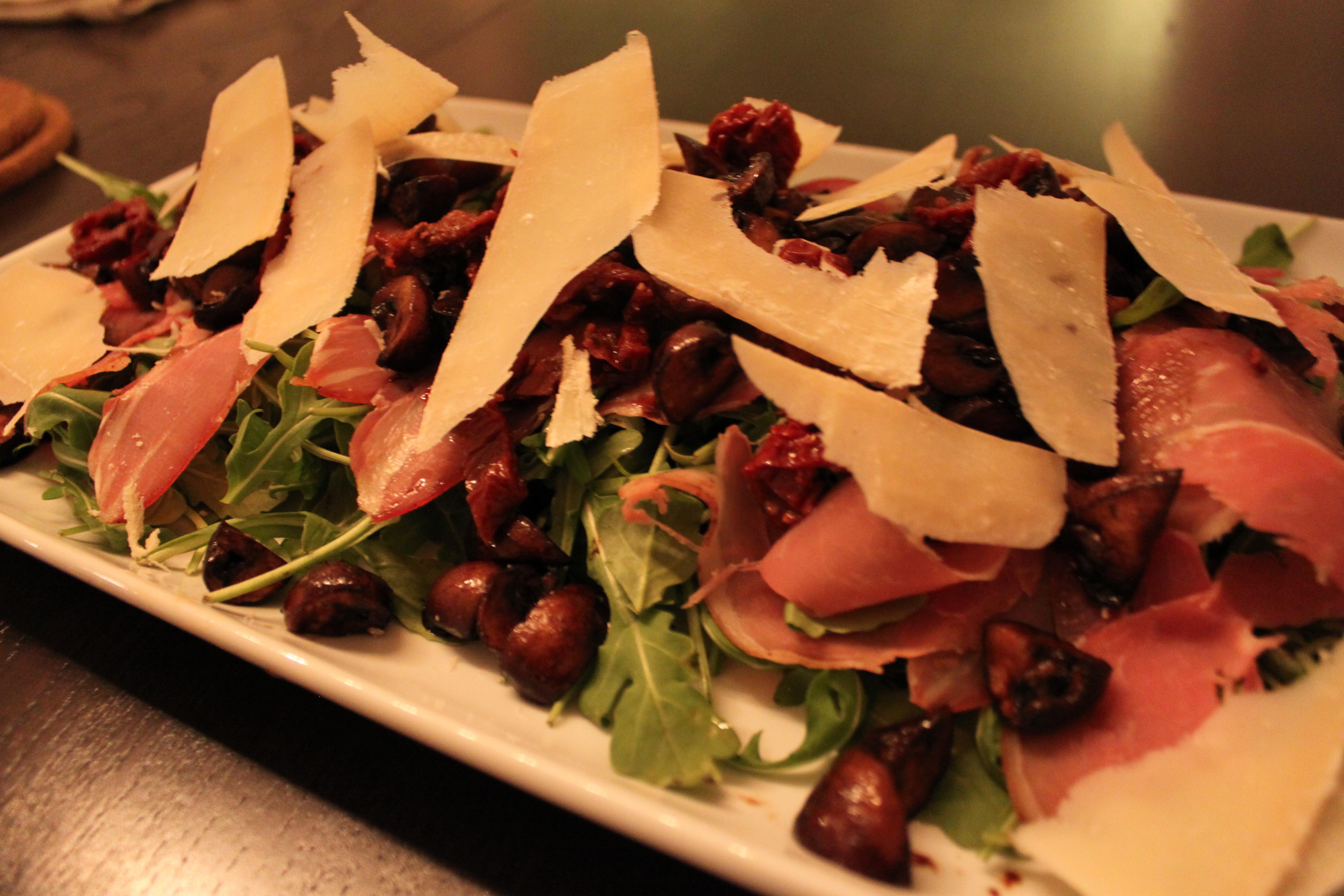 Ina's Warm Mushroom Salad | Mod Meals on Mendenhall
