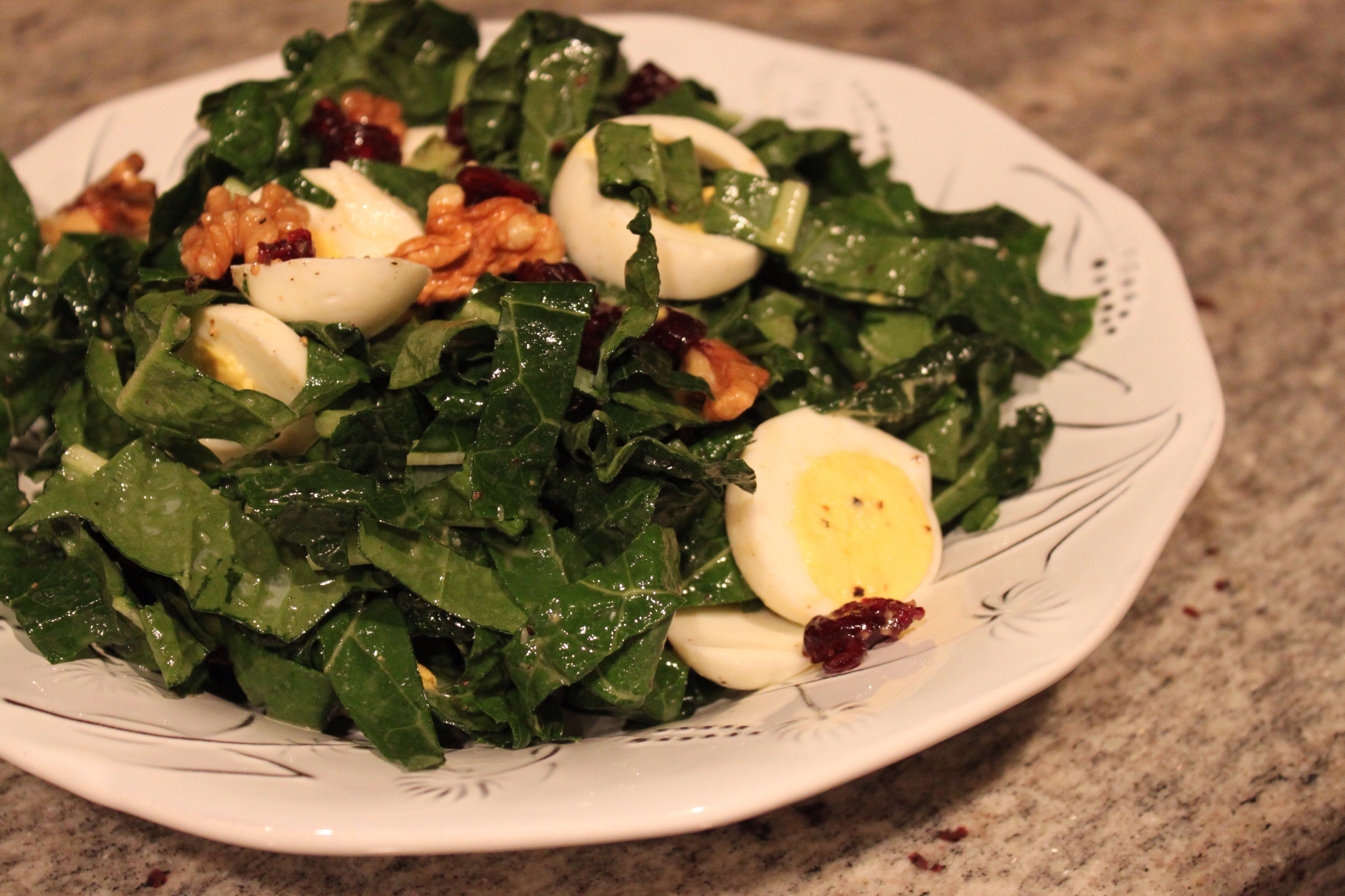 Shredded Kale Salad With Pancetta And Hard-Cooked Egg ...